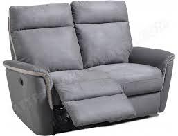 canapé relax electrique 2 places canapé tissu ub design mila 2 places avec 2 relax électriques gris