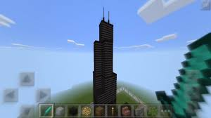 willis tower chicago how to make willis tower chicago in minecraft pe youtube