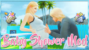 Mod Baby Shower by Los Sims 4 L Baby Shower Mod Review Overview Youtube