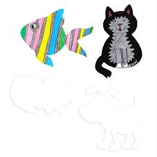 pets card cutouts 4 pack cut outs from crafty crocodiles uk