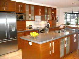 Smoked Glass Cabinet Doors Appliance Garages Kitchen Cabinets Outstanding Kitchen Cabinet