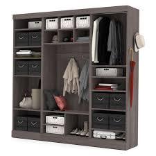 bestar pur 86 in mudroom storage kit wood closet organizers at
