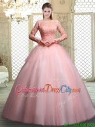 simple quinceanera dresses pretty bateau sleeves beading and appliques simple