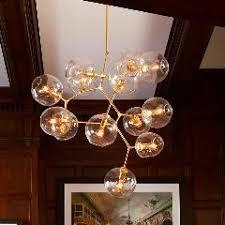 Glass Sphere Pendant Light Glass Ball Pendant Light With Edison Bulb 3 5 6 7 8 9 11 13 Head