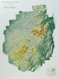 Seattle Elevation Map by Raised Relief Map Of Adirondack Park New York