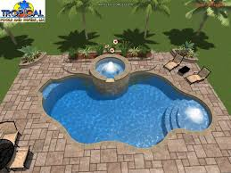 swimming pool designs for traditional guesthouse in tourism site