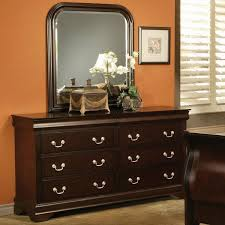 Mirrored Nightstands Cheap Classic Dresser With Mirror Design Comes With Brown Carpet Floor