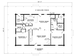 2 Story Great Room Floor Plans by Log Style House Plan 4 Beds 3 00 Baths 2741 Sq Ft Plan 17 503