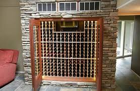 custom refrigerated built in wine cabinets
