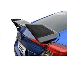 nissan civic 2017 honda civic sedan 2016 2017 vzr style carbon fiber rear wing