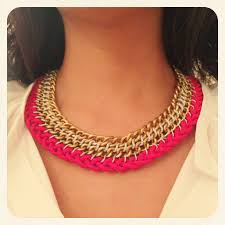 make chain necklace images Diy woven chain necklace frankly my dear jpg