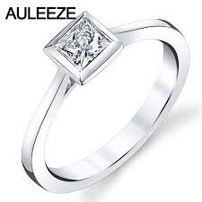 simple diamond rings aliexpress buy 9k white gold solitaire diamond ring simple