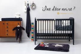 chambre de bébé noir et blanc