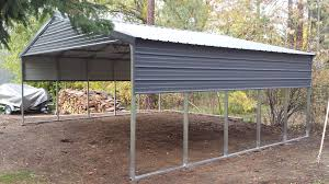 Garage With Carport Versatube Metal Building Kits With Free Shipping Metal Carports