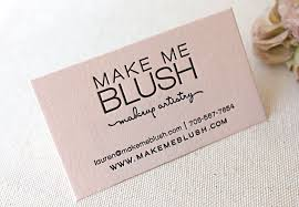 Calling Business Cards Letterpress Printed Business Cards On Blush Pink Paper