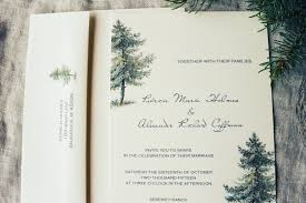 tree wedding invitations rustic pine tree wedding invitation with envelope invitations
