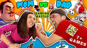fgteev mom vs dad gaming challenge hello neighbor sausage eater