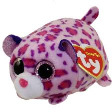 ty beanie boos teeny tys stackable plush olivia leopard 4