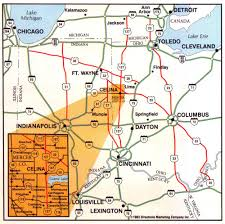 Ohio Map With Cities by Official Website Of The City Of Celina Ohio Location And