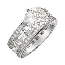 Circle Diamond Wedding Ring by 4 Carat Round Diamond Engagement Ring Linear Blaze