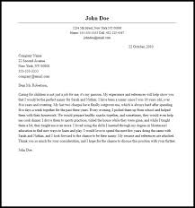 cover letter nanny professional nanny cover letter sample writing