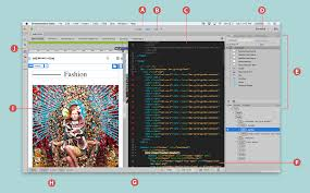 overview of the dreamweaver workspace