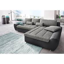 matière canapé canapé d angle bi matière avec méridienne à droite ou gauche