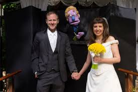 how to officiate a wedding this had puppets officiate their wedding and it was amazing