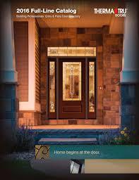 2016 full line catalogue therma tru doors pdf catalogues