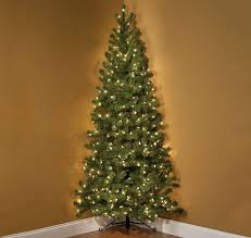 wall christmas tree 7 foot pre lit corner christmas tree the green