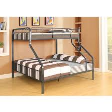ACME Furniture Limbra Twin Over Queen Metal Bunk Bed Black Sand - Queen and twin bunk bed