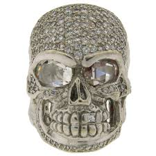 gold skull rings images Loree rodkin diamond white gold skull ring for sale at 1stdibs jpeg