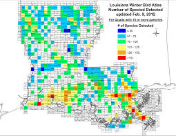 Lsu Map Methodology For Louisiana Winter Bird Atlas