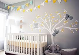 bricolage chambre bébé bdecoll stickers muraux grand arbre mignonne koalas sticker mural