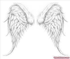 grey ink angel wings tattoo design tattoo viewer com