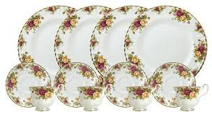 thanksgiving china sets amazon com royal doulton royal albert old country roses 12 piece