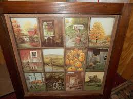 homco home interior vintage homco home interior window pane picture rustic fall