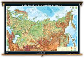 Blank Map Of Russia by Klett Perthes Dual Sided Physical U0026 Outline Map Of Russia
