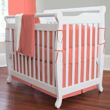 mini crib bedding for girls solid coral mini crib bedding carouseldesigns nursery coral