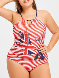 Flag One Piece Swimsuit Patriotic Swimwear Cheap Shop Fashion Style With Free Shipping