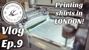 Mr Brown London Furniture by Printing Shirts In London Ben Brown Vlog Ep 9 Youtube