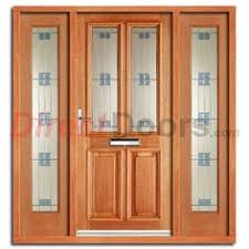 Hardwood Door Frames Exterior Derby Exterior Oak Door And Frame Set With Two Side Screens And