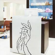 woman female hands spa manicure beauty salon decor vinyl