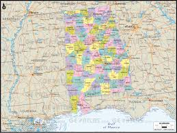 County Map Of Alabama Geoatlas Us States Alabama Map City Illustrator Fully