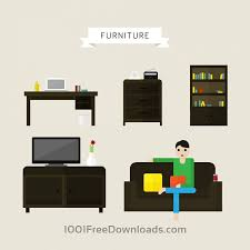 free vectors house and office furniture illustrations icons