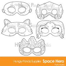 Halloween Craft Printable by Space Hero Printable Coloring Masks Hero Masks Printable