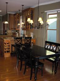 Furniture  Impressive Wood And Black Dining Table Black Wooden - Black kitchen table