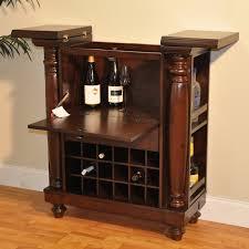 Rustic Bar Cabinet Williamsburg Flip Top Bar Cabinet Rustic Mahogany Convenient
