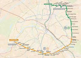 Map Of Paris France Map Of Paris Tram Stations U0026 Lines
