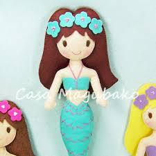 felt mermaid digital pattern diy stitched doll pdf file